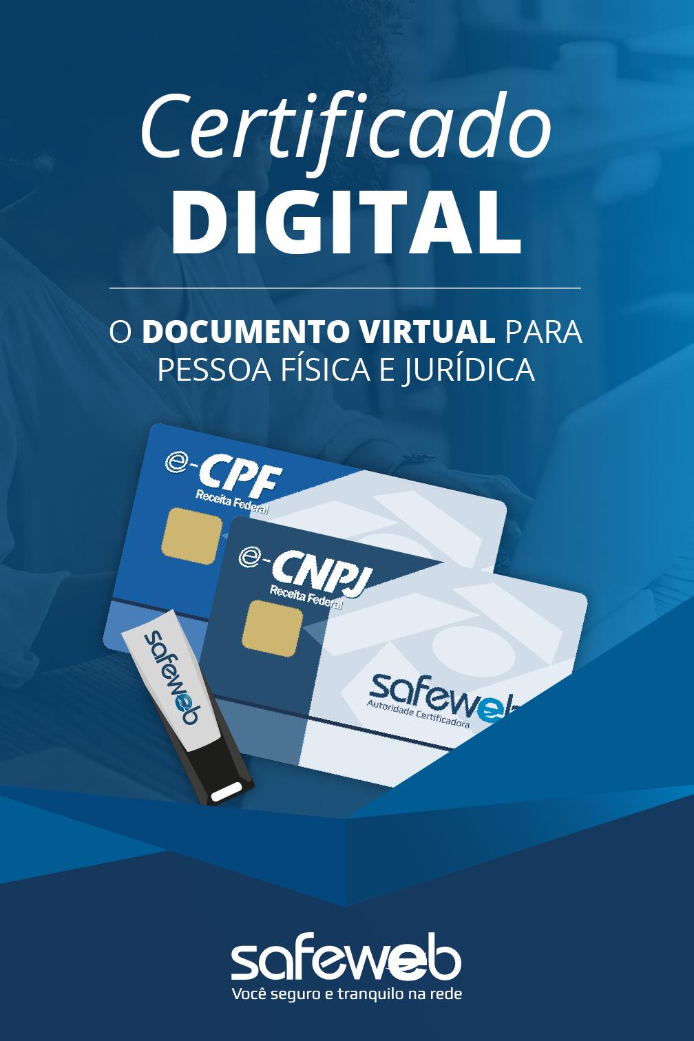 Certificados Digitais Safeweb